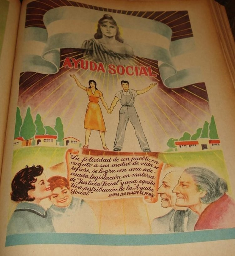 La Ayuda Social descripta en el libro que ilustra las realizaciones del peronismo