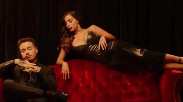 """Imagen del videoclip de """"Downtown"""", junto al colombiano J Balvin"""
