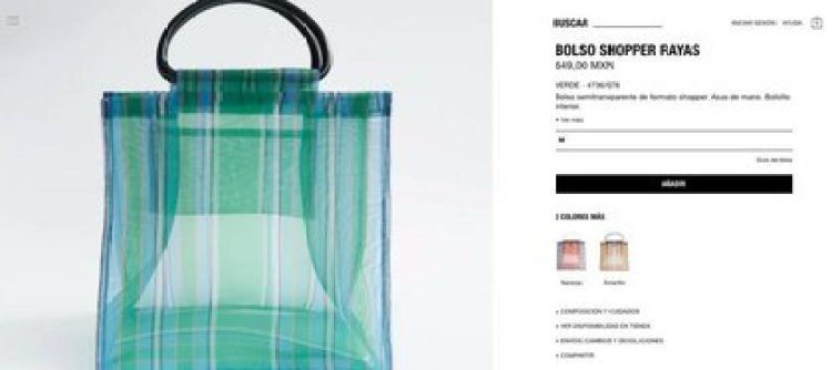 Bolso de Zara es objeto de burla en redes por su parecido con ...
