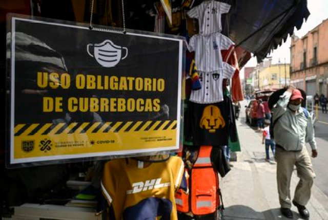 En México, hasta este lunes 27 de julio, suman 44,022 decesos y 395,489 casos confirmados acumulados de coronavirus (Foto: AFP)