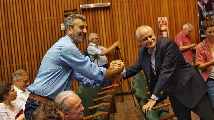 Florencio Randazzo y Jorge Taiana, dos ex ministros que Fernández valora y respeta