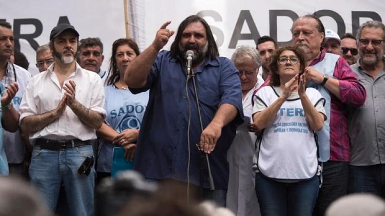 Roberto Baradel, secretario general de SUTEBA (Adrián Escándar)