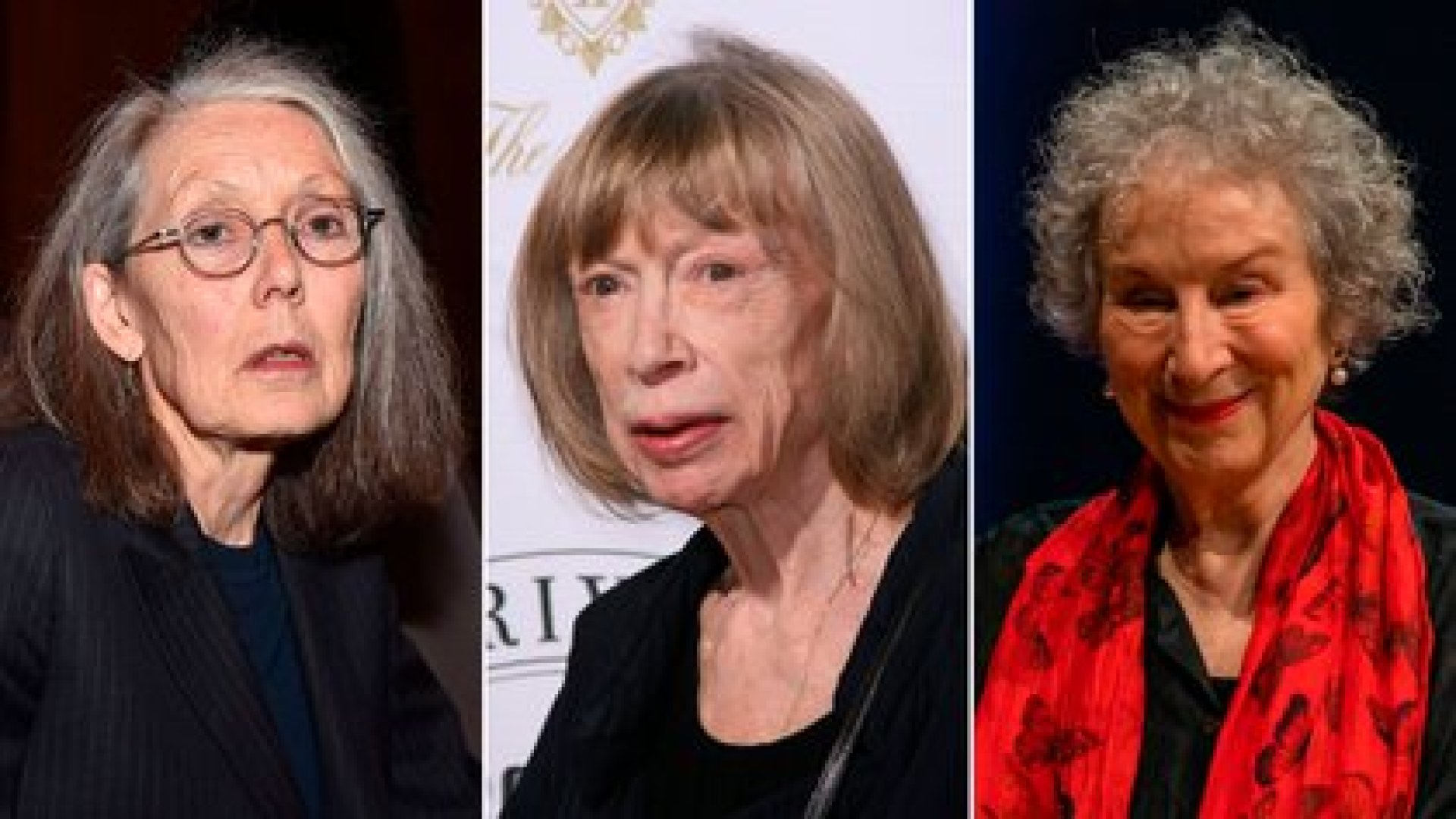Anne Carson, Joan Didion y Margaret Atwood