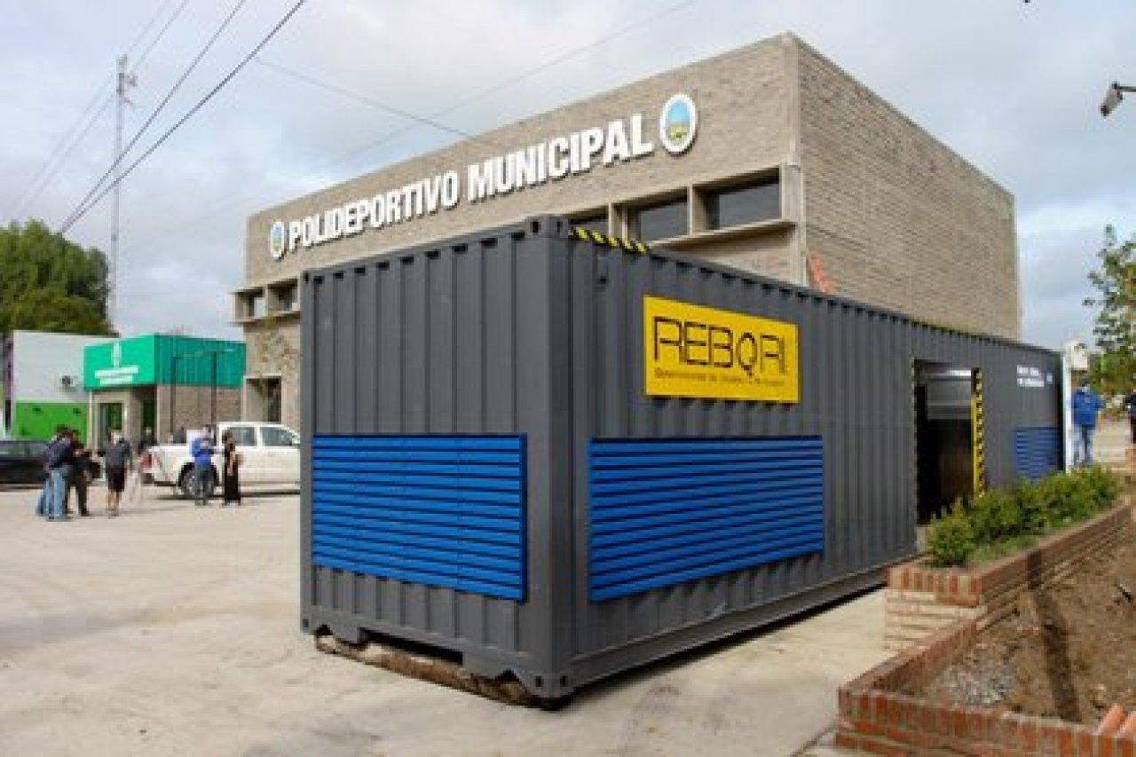 La planta móvil de producción de oxígeno instalada en Ensenada