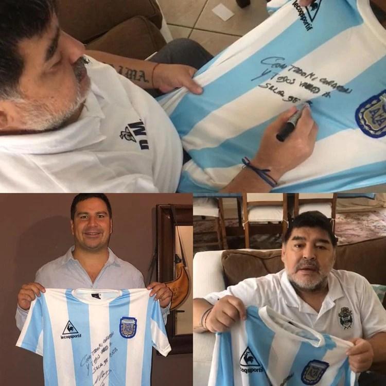 La camiseta de Maradona iba a ser subastada pero al final, se sorteará