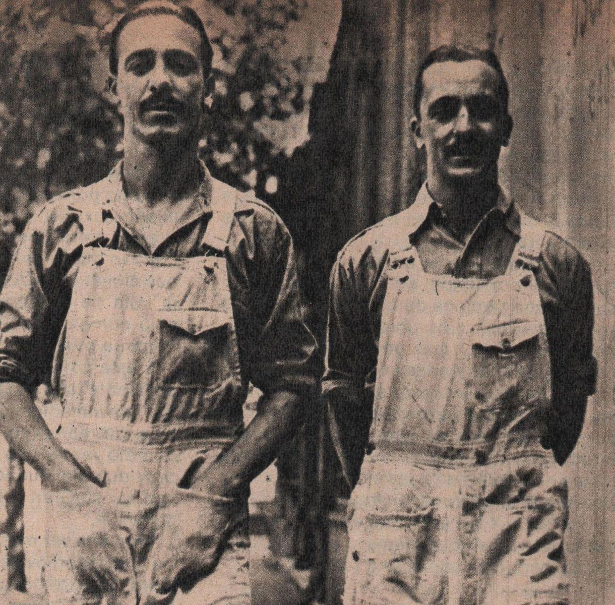 Los hermanos Gálvez: Oscar (der) y Juan (izq.). Crédito: Archivo CORSA.