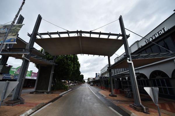 Las calles desiertas en Ayr en el norte de Queensland (AFP)