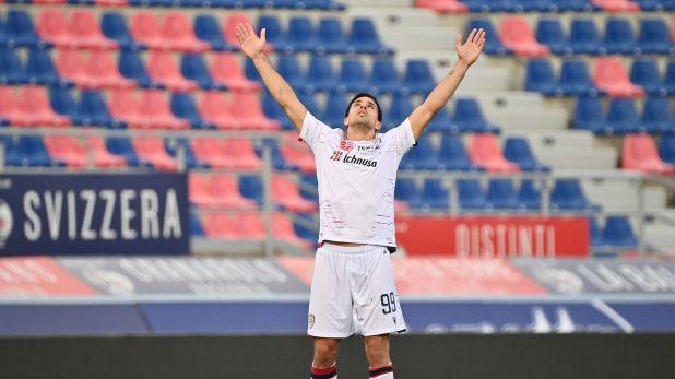 Gol Gio Simeone en Cagliari