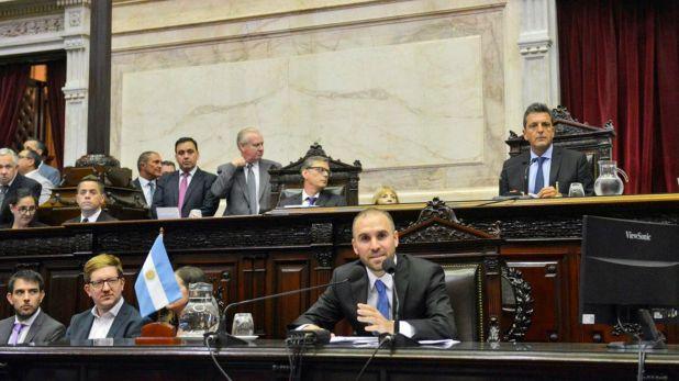 Martin Guzman en el Congreso explicando la renegociacion de la deuda