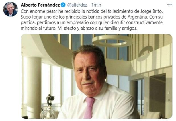 Alberto Fernández Jorge Brito