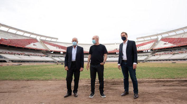 Rodríguez Larreta recorrió el Detectar en River Plate con Rodolfo D'Onofrio