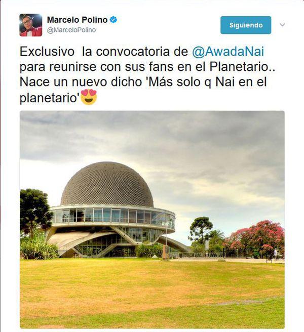 """Marcelo Polino le hizo un chiste a Nai Awada después de que sus fans la dejaron """"plantada"""""""