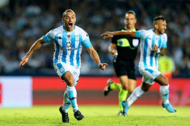 El desaforado grito de gol del Chelo Díaz en el clásico ante Independiente (Fotobaires)
