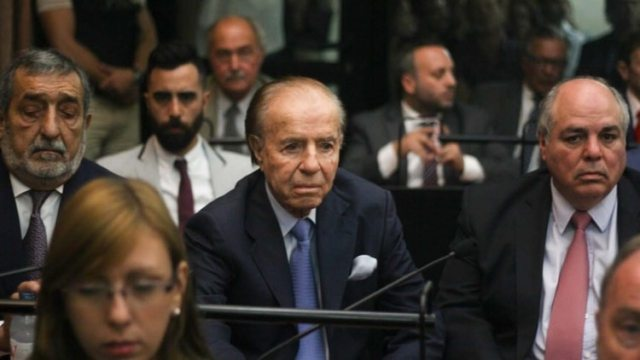 El ex presidente Carlos Menem