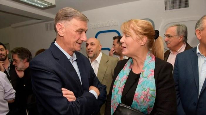 Binner, con Margarita Stolbizer