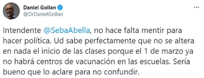 Daniel Gollán respuesta a Abella