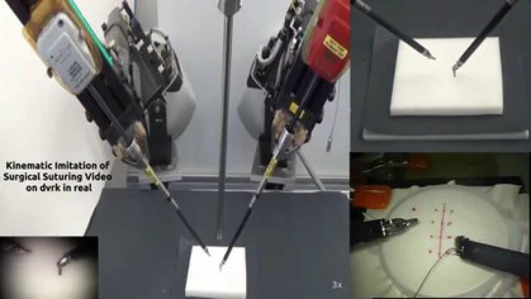 Los videos que se emplean en el entrenamiento son parte la base de datos JIGSAWS, que reúne información de actividad quirúrgica para el modelado de movimiento humano.