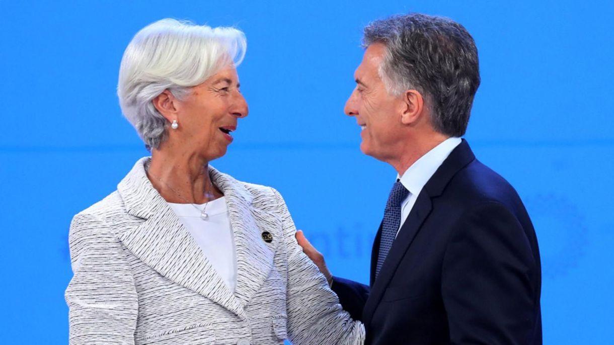 Christine Lagarde, ex directora del FMI, y Mauricio Macri