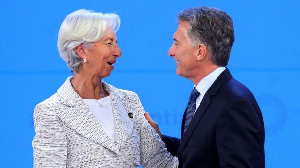 Christine Lagarde, directora del FMI, junto a Mauricio Macri en la cumbre del G20