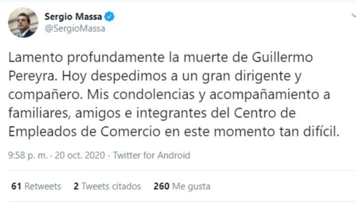 Tweet Massa Pereyra