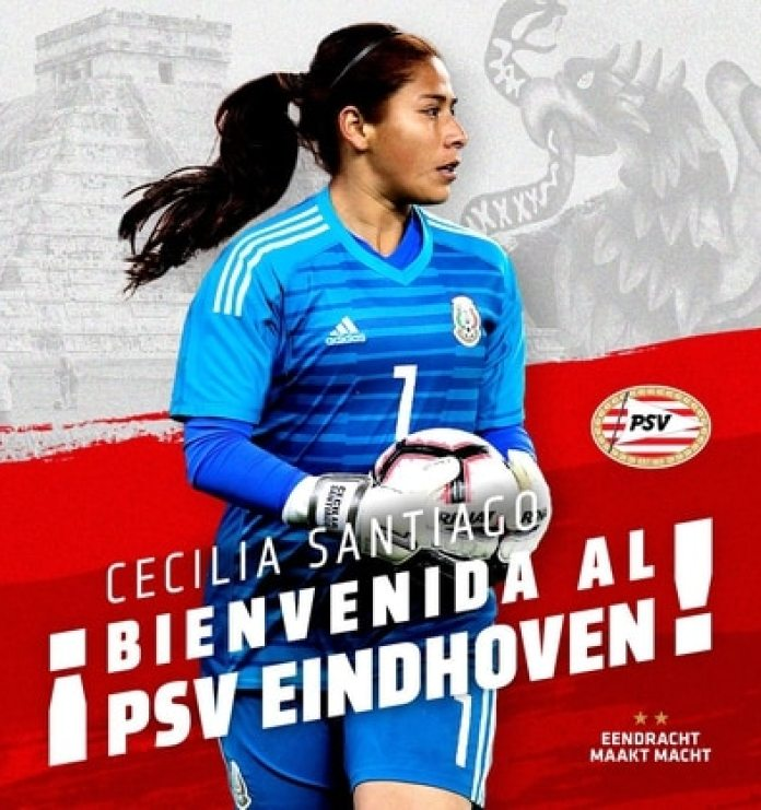 The goalkeeper has a year in the Dutch team and competes a place with Sari Van Veenendaal, best goalkeeper in the World Cup and The Best award (Photo: Twitter / @PSV)
