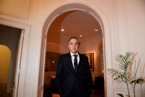 Miguel Ángel Pichetto en sus oficinas porteñas (Maximiliano Luna)