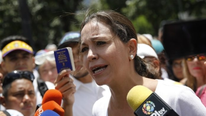 María Corina Machado, principal referente de la oposición que rechaza las elecciones