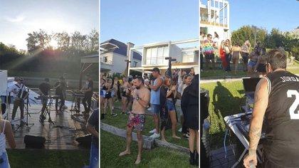 Más de 70 personas, música en vivo, alcohol y equipo de sonido: las imágenes de la fiesta en Nordelta