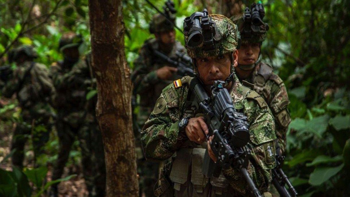 Miembros del ejército de Colombia.