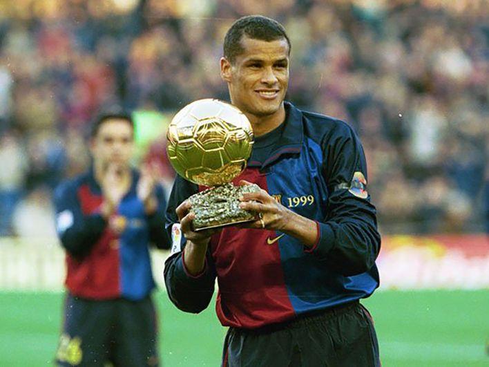 El brasileño Rivaldo fue figura del Barcelona a finales de la década del 90