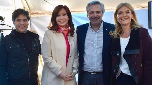 Axel Kicillof, Cristina Fernández, Alberto Fernández y Verónica Magario, hasta ahora las cuatro piezas clave del peronismo K
