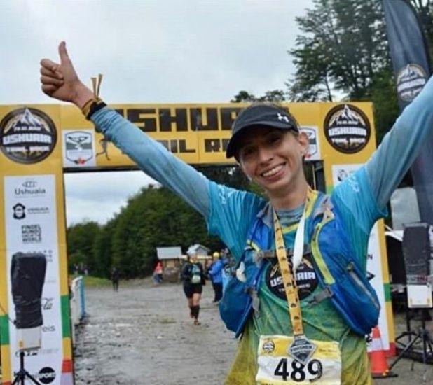 Rocío Sélé, ganadora de los 25k en la Ushuaia Trail Race. Foto: Carlos Maldonado