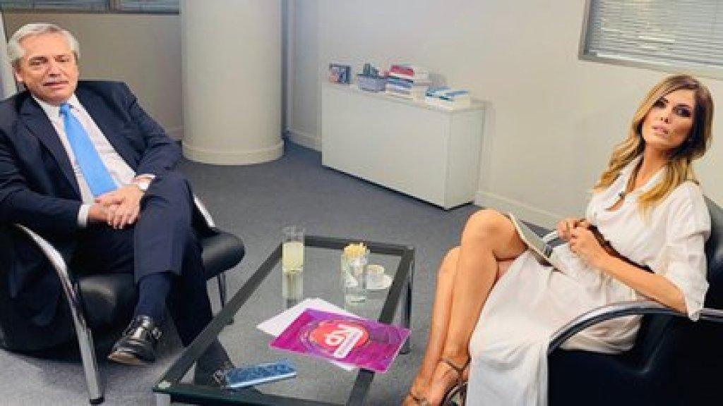 Viviana en una de sus entrevistas con el presidente Alberto Fernández