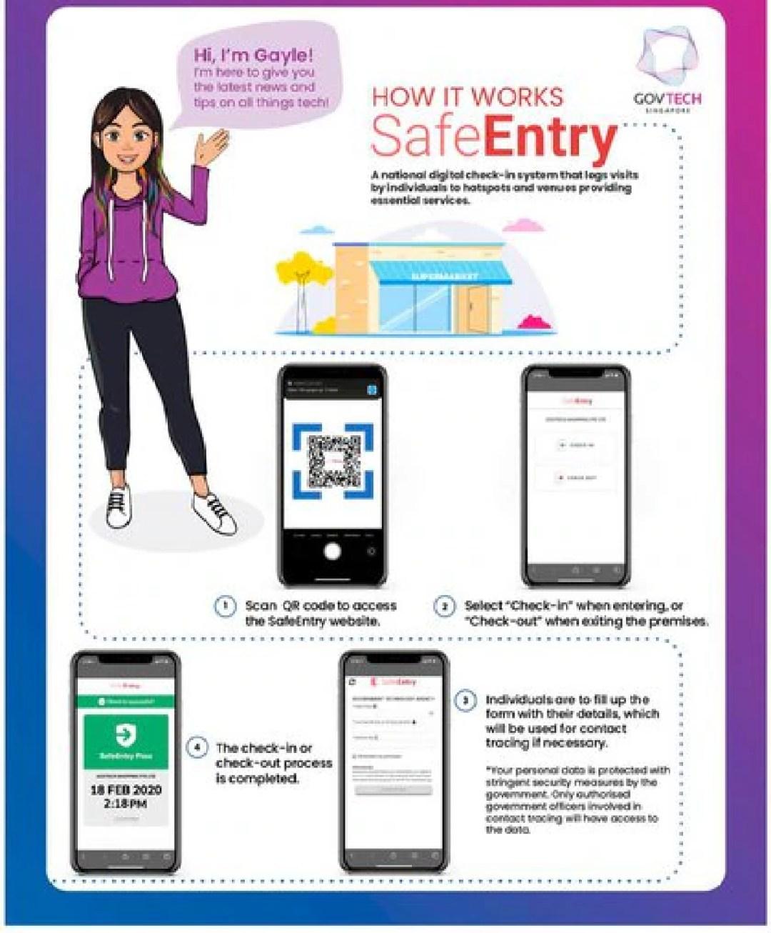 Todos los que residen en Singapur tienen la obligación de estar registrados en esta app desarrollada por el gobierno