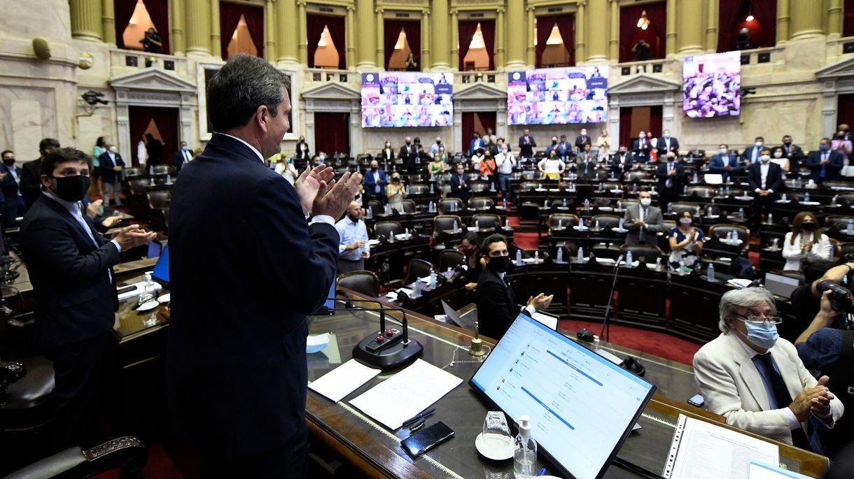 inicio sesion diputados ley aborto y mil dias.