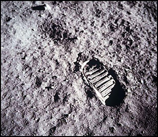 Una de las primeras pisadas humanas en la Luna.