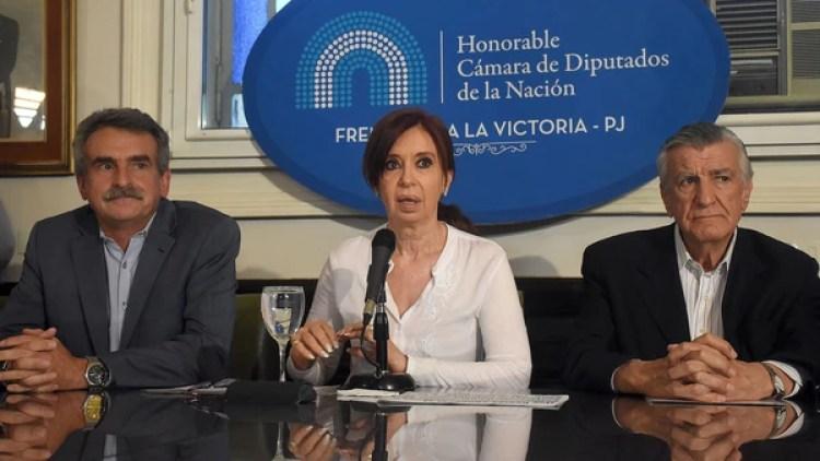 Cristina Kirchner durante la conferencia de prensa tras su último procesamiento (Nicolás Stulberg)