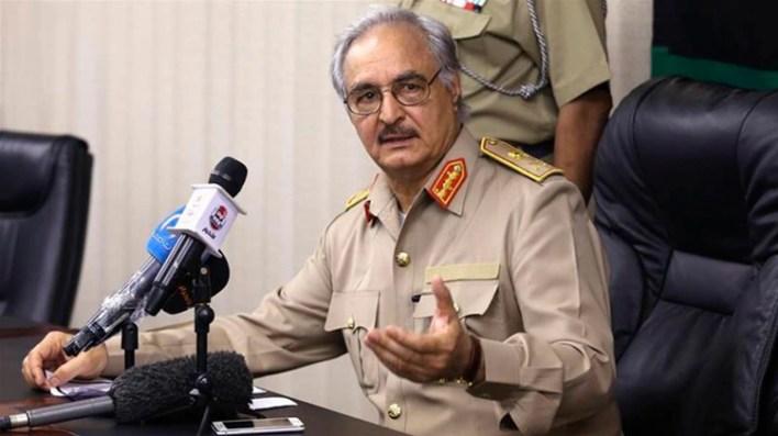 El mariscal Jalifa Haftar, líder del Ejército Nacional Libio