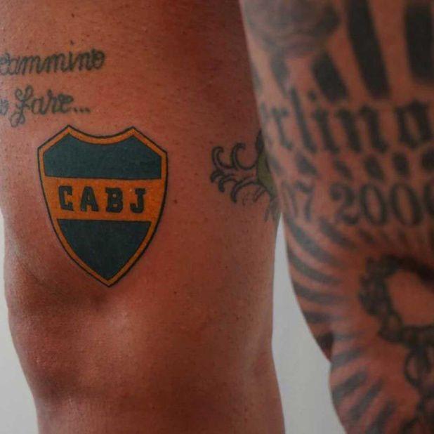 El tatuaje que Marco Materazzi lucirá el resto de su vida: un fanático más de Boca