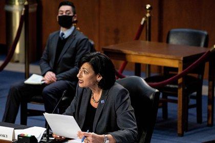 En la imagen, la directora de los Centros de Control y Prevención de Enfermedades de Estados Unidos (CDC, en inglés), Rochelle Walensky. EFE/Anna Moneymaker/Archivo