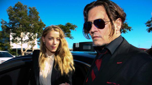 Amber Heard había acusado de maltrato físico al actor Johnny Depp (AFP)