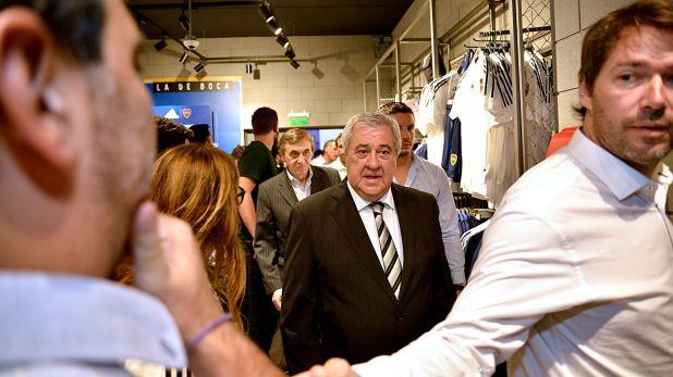 Jorge Ameal, presidente de Boca, también estuvo presente en el Museo (Gustavo Gavotti)