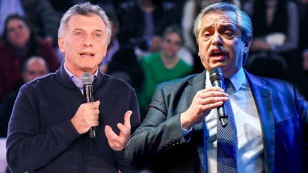 Mauricio Macri y Alberto Fernández, los dos principales precandidatos a la presidencia