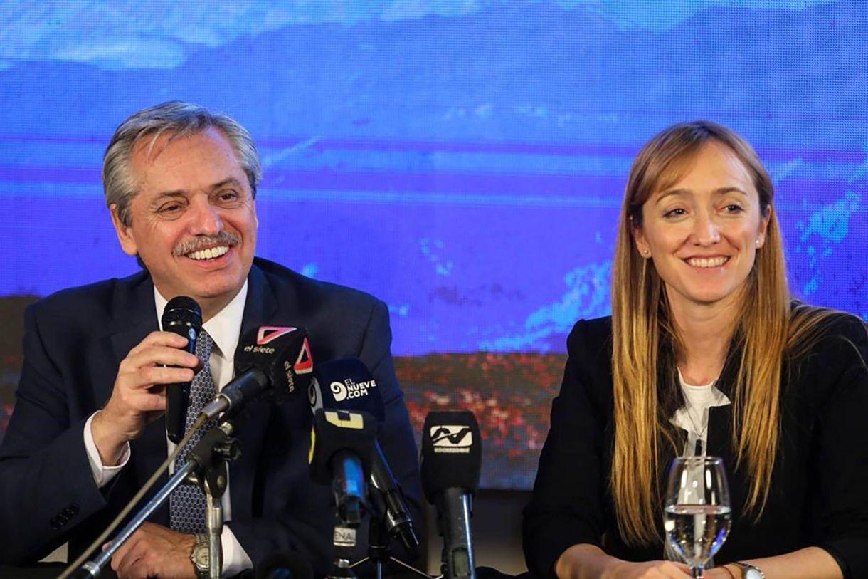 El viernes Fernández viajó a Mendoza a apoyar a la precandidata a gobernadora Fernández Sagasti