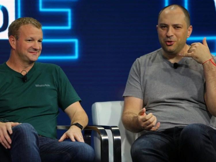 Brian Actony Jan Koum,los cofundadores de WhatsApp.(Reuters)