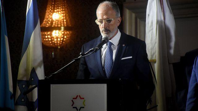 El presidente de la DAIA, Jorge Knoblovitz