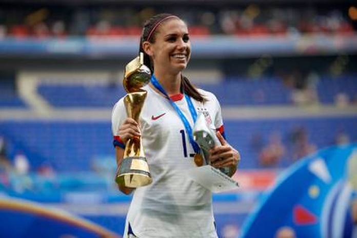 Alex Morgan was consecrated champion with the U.s. team in the World France 2019 (Shutterstock)