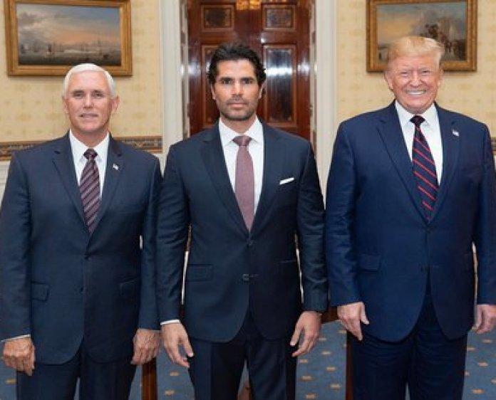 Mike Pence, Eduardo Verástegui and Donald Trump (IG: eduardoverastegui)