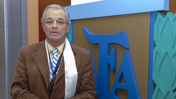 Abel Gnecco, en el 2015, cuando ocupaba un puesto como representante argentino en Conmebol(NA)