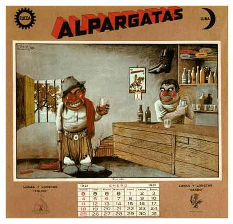 El primer almanaque de Alpargatas, de Molina Campos